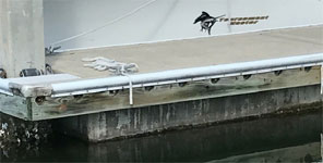 mounting jet ski dock to pier